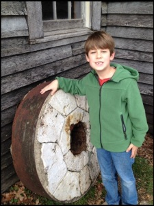 Lev with millstone