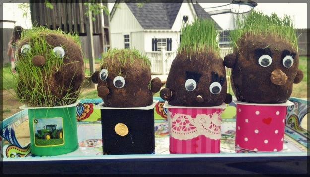 grass heads after