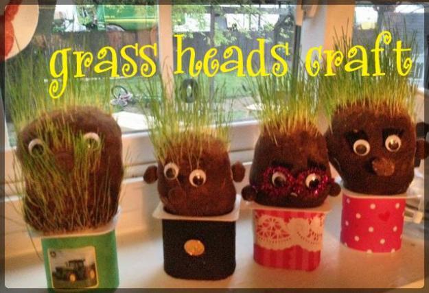 grass heads window
