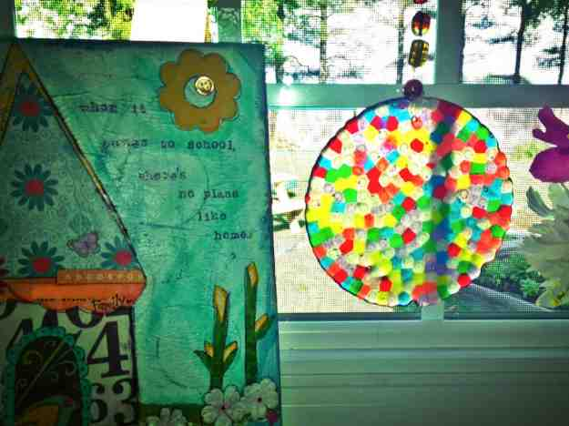 suncatcher with art