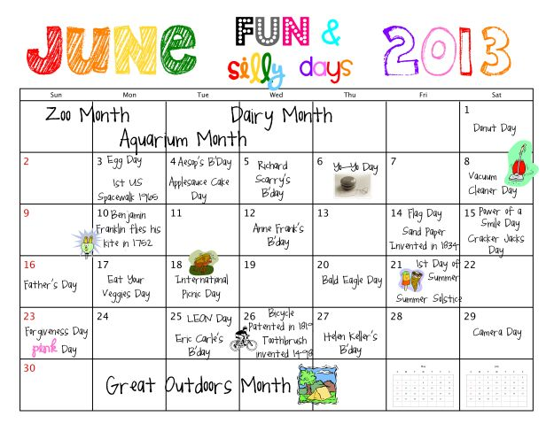 june fun and silly days