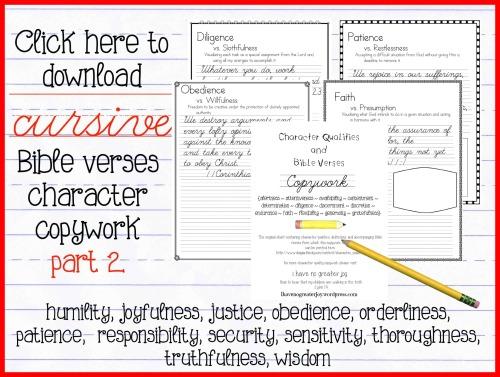 cursive copywork part 2-2