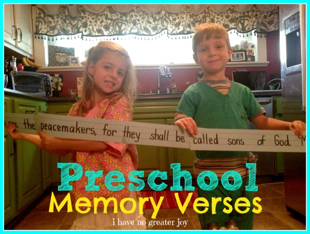 preschool memory verses