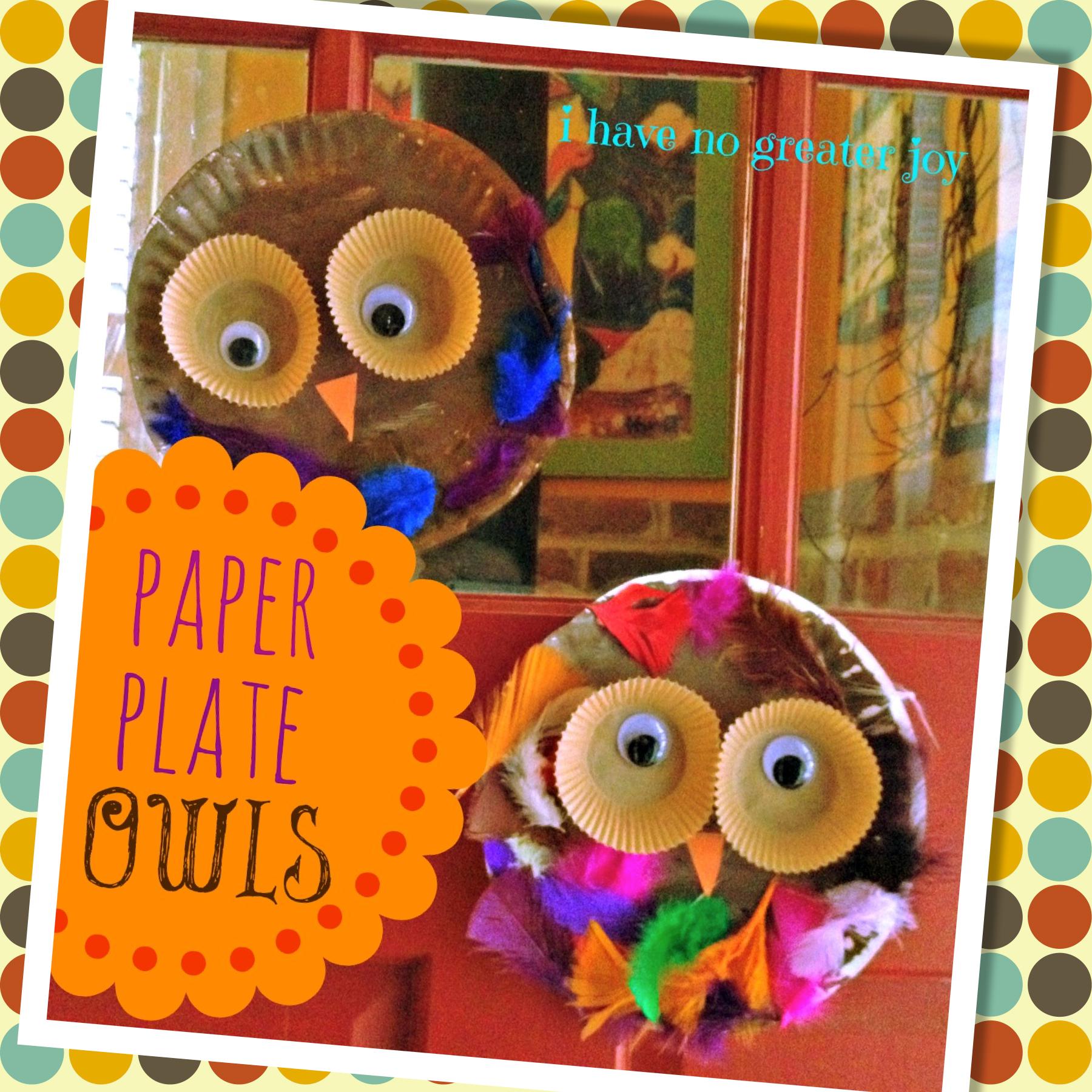 fall owls door  sc 1 st  i have no greater joy - WordPress.com & Paper Plate Owls | i have no greater joy