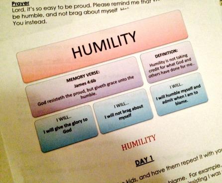 humility main