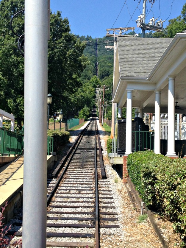 another stop in Chattanooga… We rode the incline railway to the top of Lookout Mountain.  Yes, I shed tears.  :(