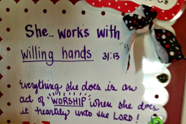 I spent time this summer doing an amazing study of Proverbs 31 through the folks at Doorposts.