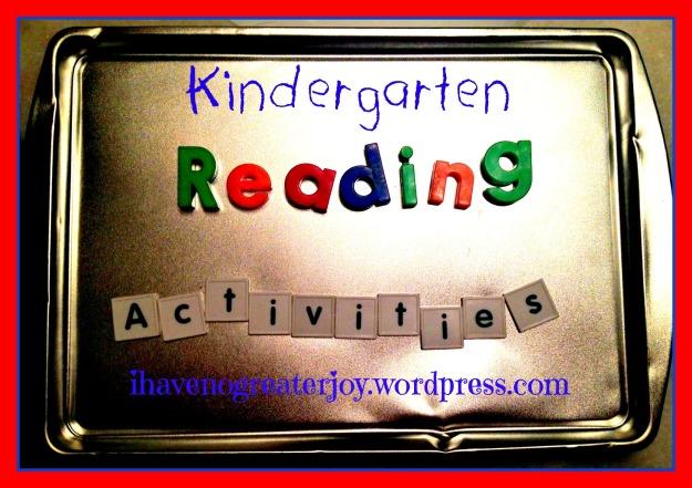 k reading activities